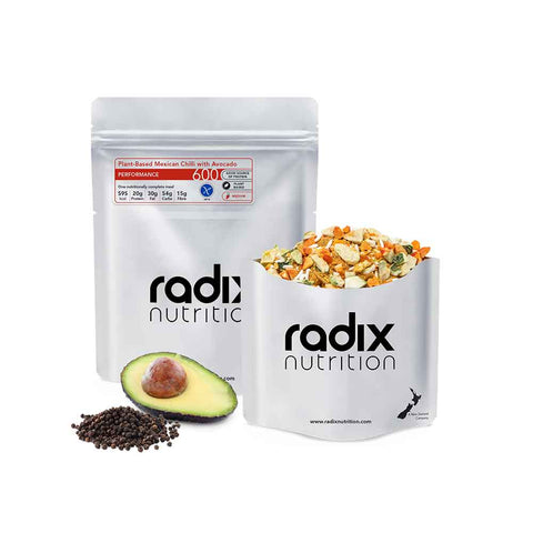 Radix Nutrition - Performance 600kcal Main Meal - Plant-Based - Mexican Chilli with Avocado
