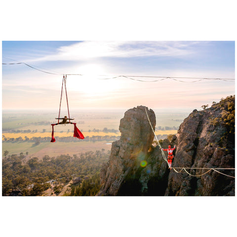 Ryan Sleiman - Print by Ryan Sleiman - Silks and Highline at Mt Arapiles Australia