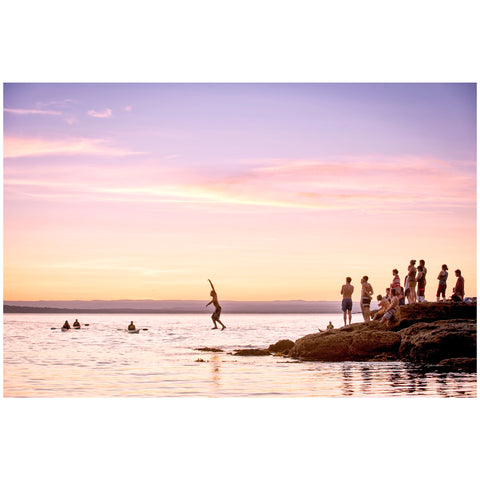 Ryan Sleiman - Print by Ryan Sleiman - Waterline at Sunset, Honeymoon Bay, Currarong