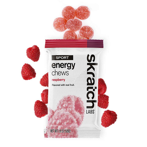 Skratch Labs - Sport Energy Chews, Raspberry, Single Serving