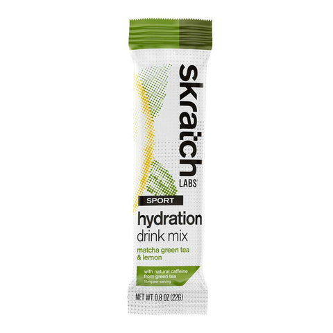 Skratch Labs - Sport Hydration Drink Mix, Matcha Green Tea and Lemons, Single Serving