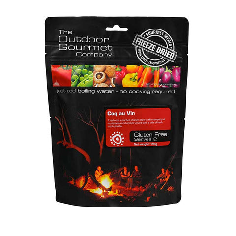 The Outdoor Gourmet Company - Coq Au Vin 2 Serve - Gourmet Freeze Dried Meal