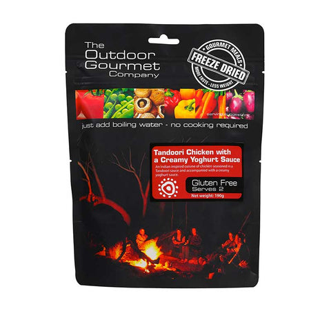OUTDOOR GOURMET - Tandoori Chicken w Yoghurt 2 Serve - Gourmet Freeze Dried Meal