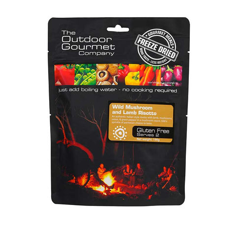 OUTDOOR GOURMET - Wild Mushroom and Lamb Risotto 2 Serve - Gourmet Freeze Dried Meal