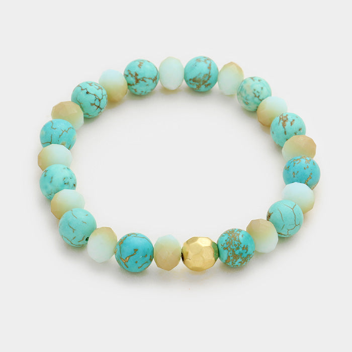 'LOVE' BEADS STRETCH BRACELET