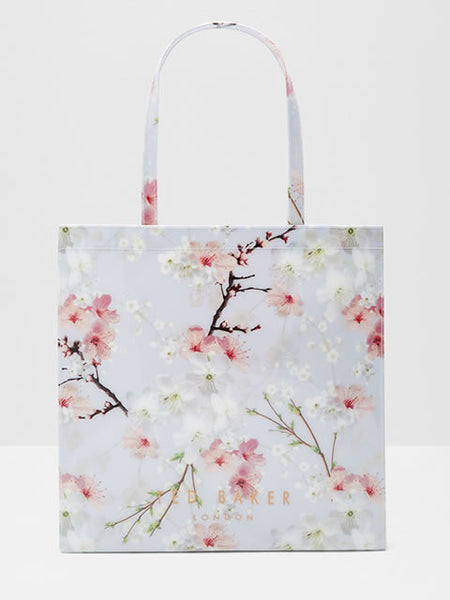 Salecon - Oriental Blossom Large Shopper Bag in Light Grey