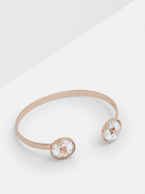 Katrina - Crystal Double Button Cuff - (CLEAR)