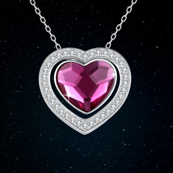 Plato H Jewelry | Double Hearts Necklace