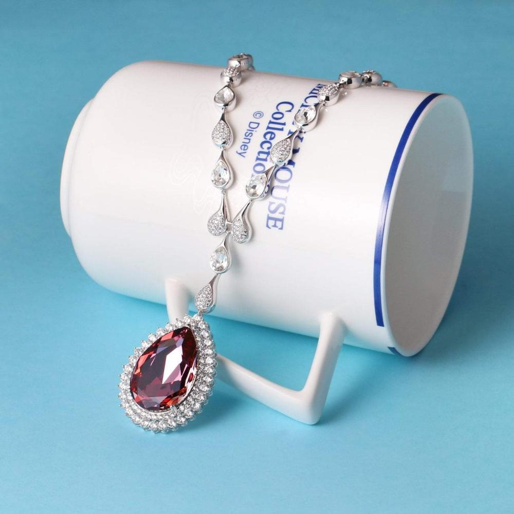 LOUISON NECKLACE,RED,BLUE,MULTI-COLORED, RHODIUM PLATING, Swarovski Crystals