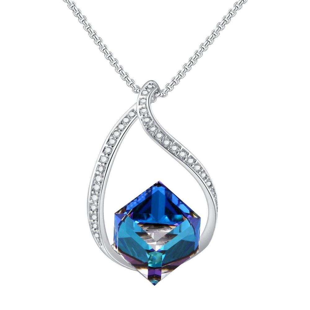 Heart of Ocean Blue Pendant Necklace