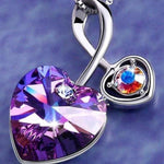 Soul-Mate Necklace Violet Crystal