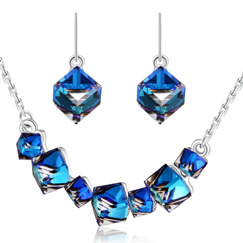 Cubic Necklace Earrings