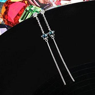 Star Drop Earrings Five-pointed Star Tassel Earrings Gift