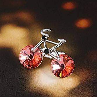 Couple Brooch Lovely Cute Bicycle Brooch Pink