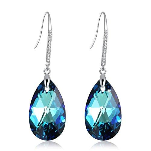 Birthstone Tear Drop Hook Earring
