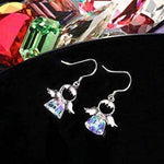 925 Sterling Silver Sweet Angel Crystal Earrings