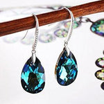 Birthstone Tear Drop Hook Earring Gift For Her