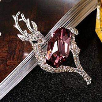 Swarovski Crystal Cute Animal Lovely Deer Brooch