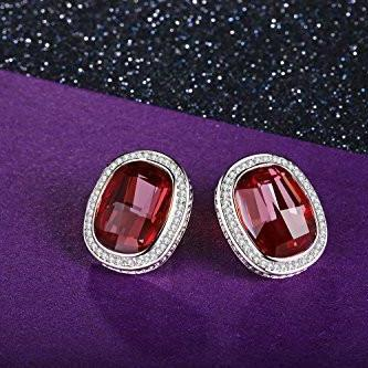 Stud Earrings Red For Her