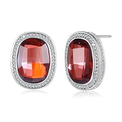 Stud Earrings Red