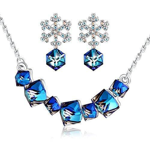 Swarovski Crystal Change Color Earring/Necklace/Bracelets Set