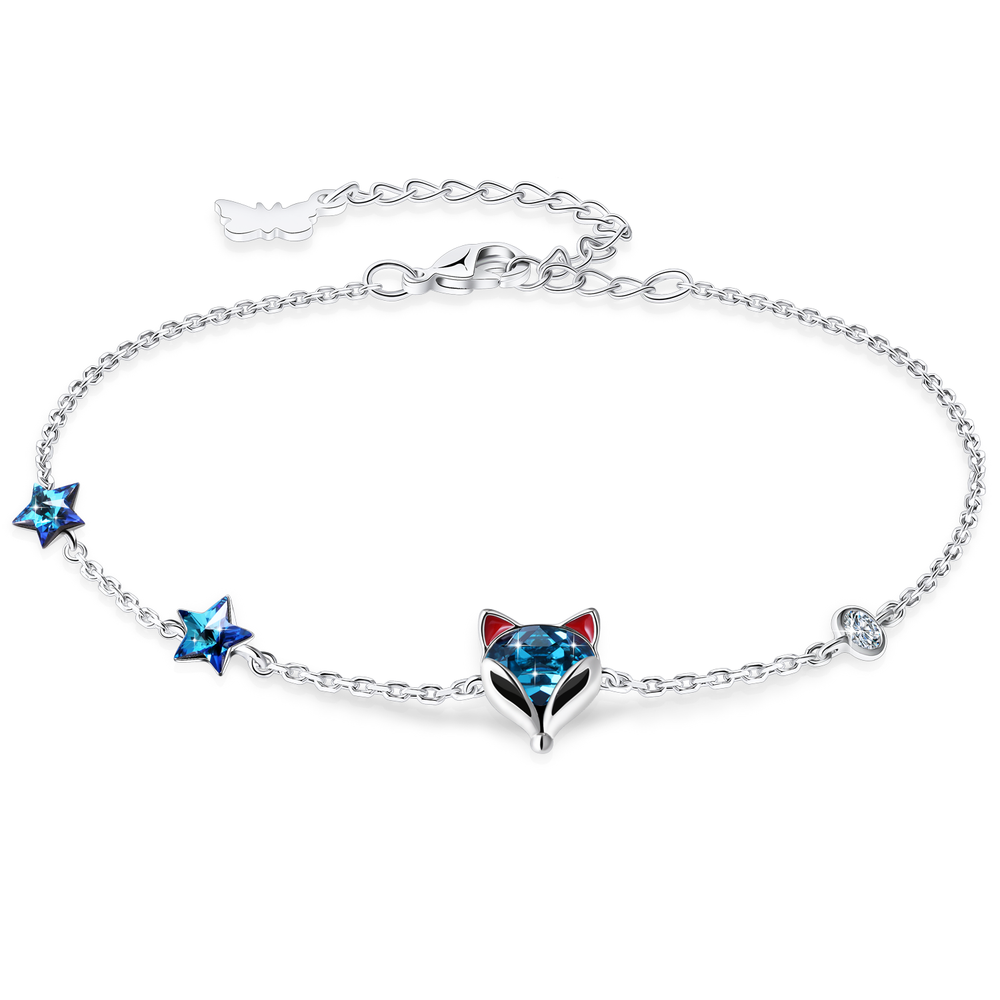 PLATO H Fox Bracelet Crystal from Swarovski for Women Girls Animal Jewelry with Gift Box