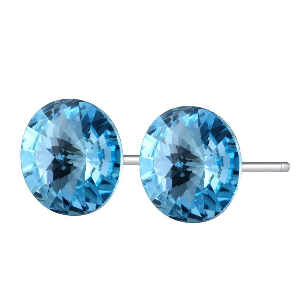 Heart Catching Stud Earrings Blue
