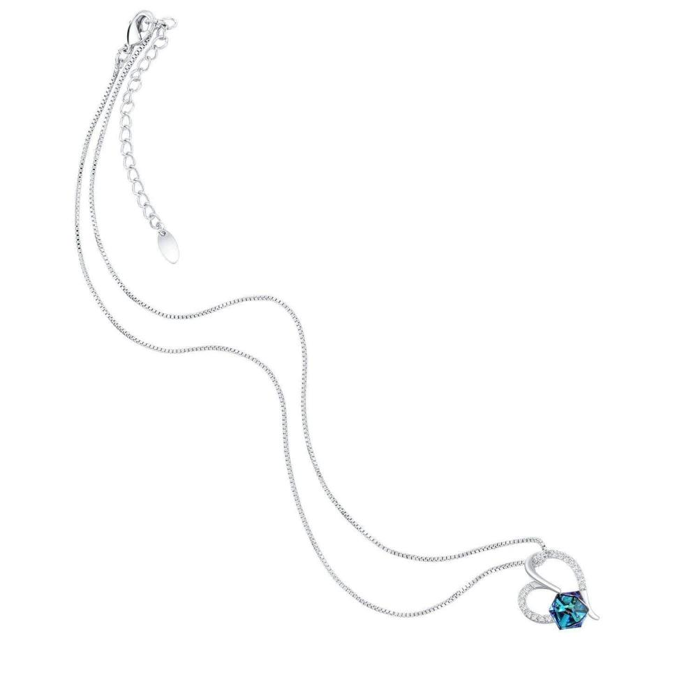 Swarovski Crystal Heart of Ocean Pendant Necklace, Blue/Red