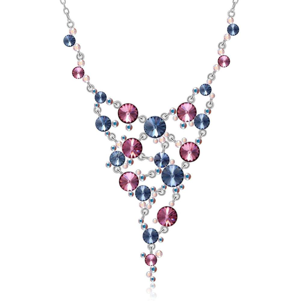 LIZ NECKLACE,COLOURFUL, MULTI-COLORED, RHODIUM PLATING, Crystals