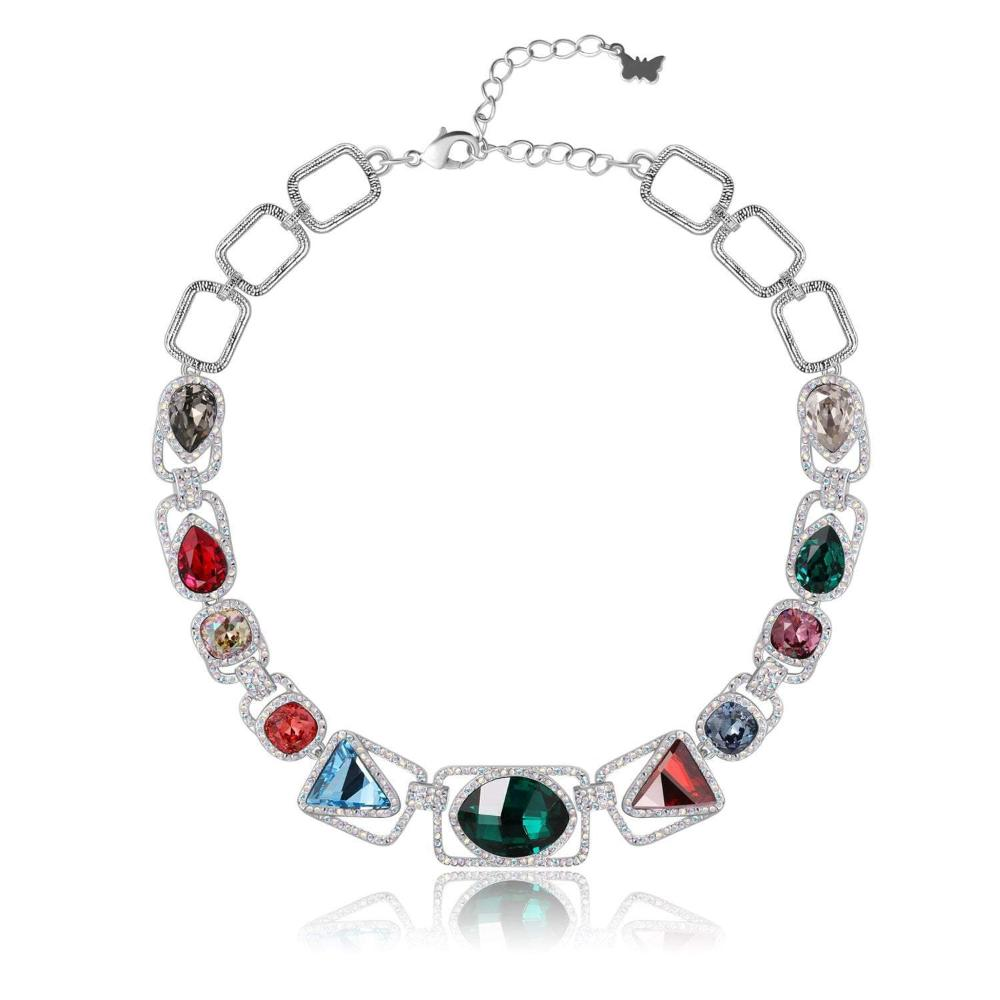 PETER PILOTTO ARBOL NECKLACE, MULTI-COLOURED,Rhodium Plating, Swarovski Crystals