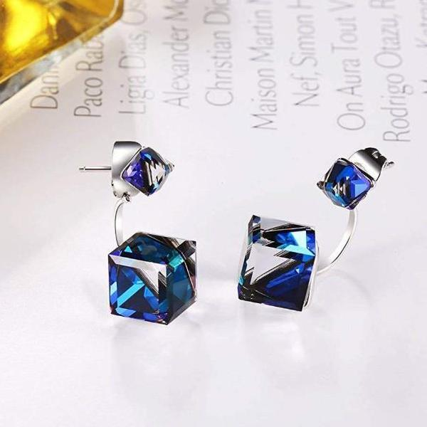 Immortal Love Drop Dangle Earrings Blue