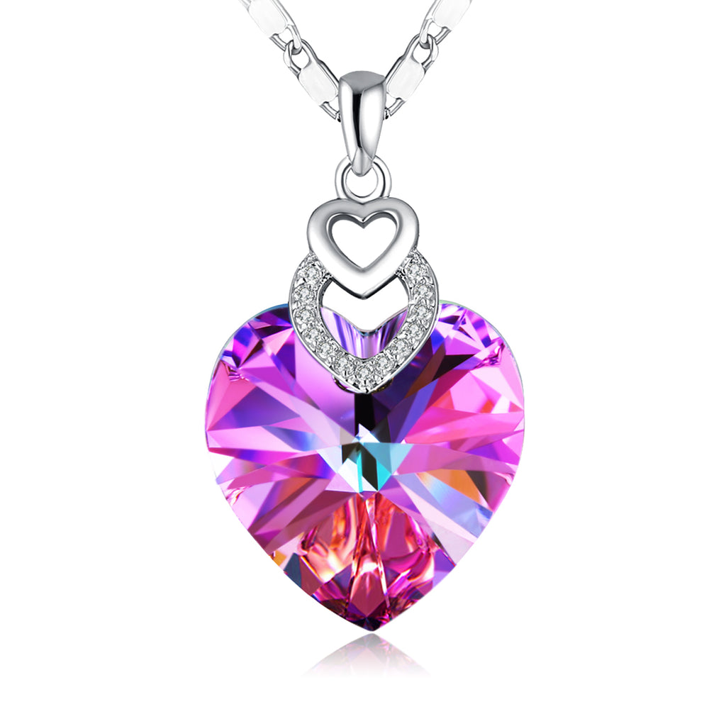 "Swarovski Crystal ""Brave Heart"" Crystal Pendant Necklace"