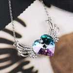 Guardian Angel Necklace Purple Live