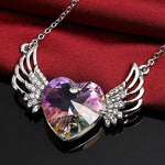 Guardian Angel Necklace Purple Gift