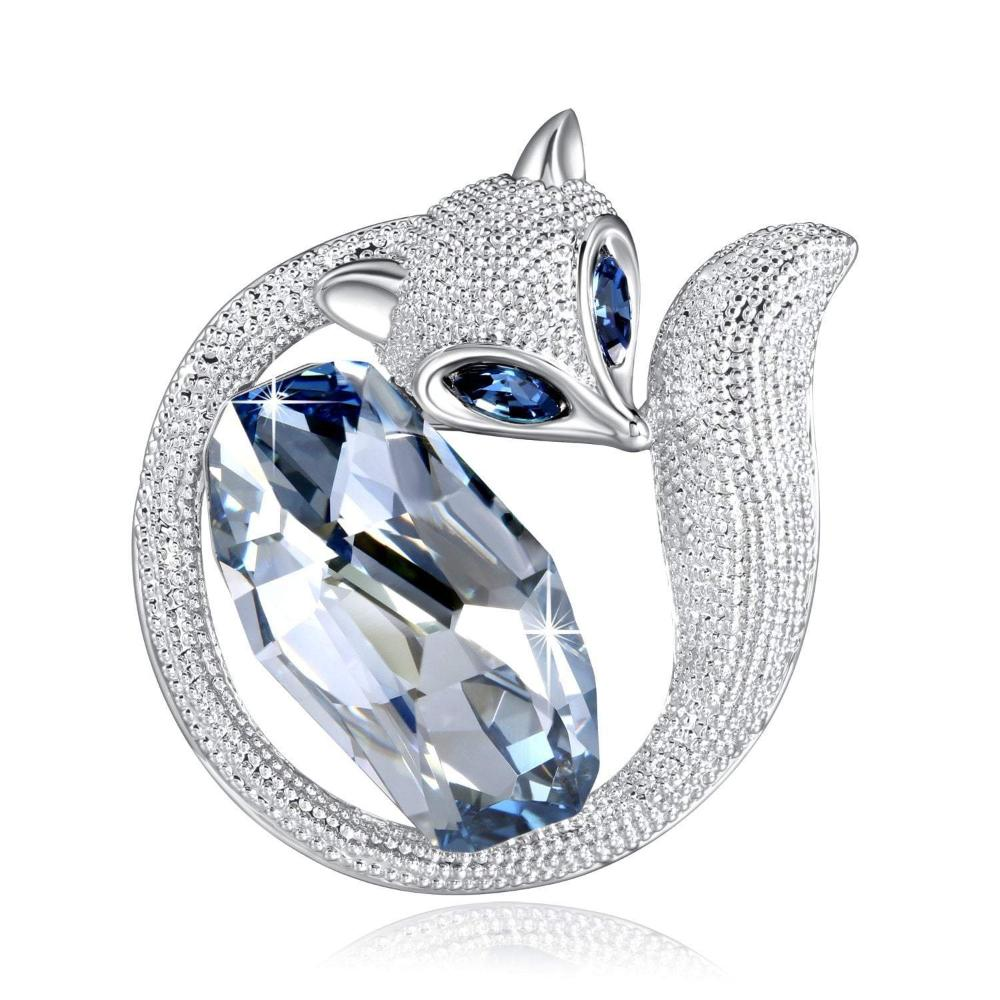 Swarovski Crystal Luxury Fox Brooch