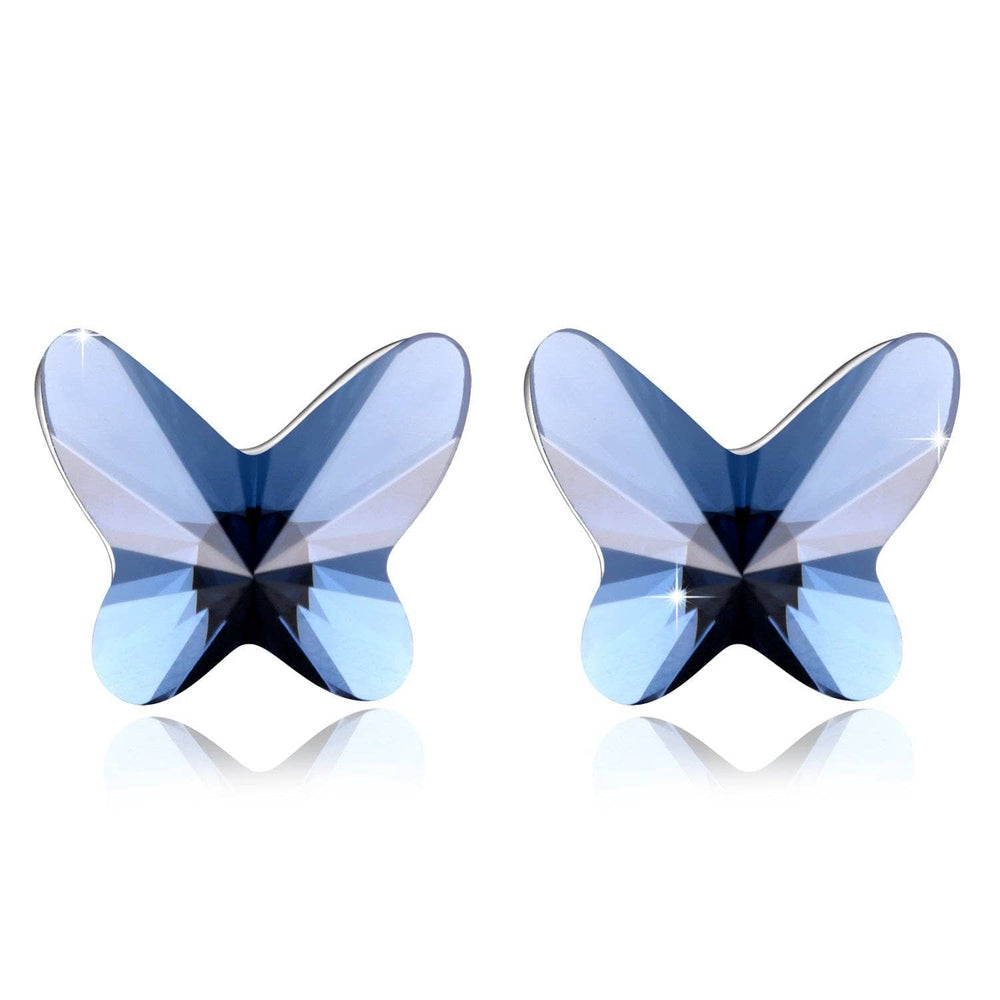 Swarovski Crystal Stud Earrings Heart/Star/ Flower/Butterfly