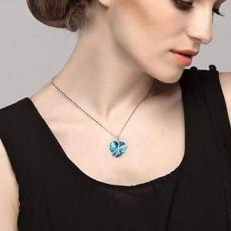 Noble Pendant Necklace Blue For Her