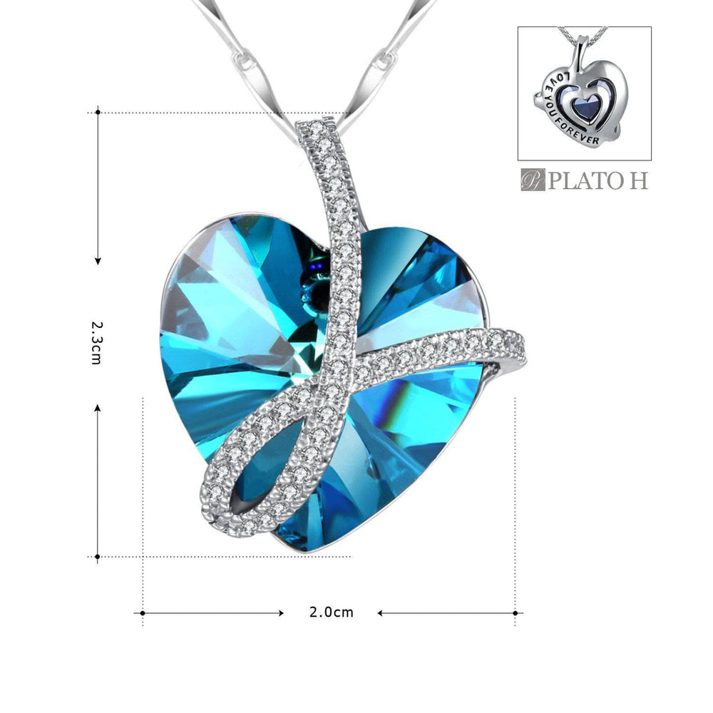 Noble Pendant Necklace Blue Size