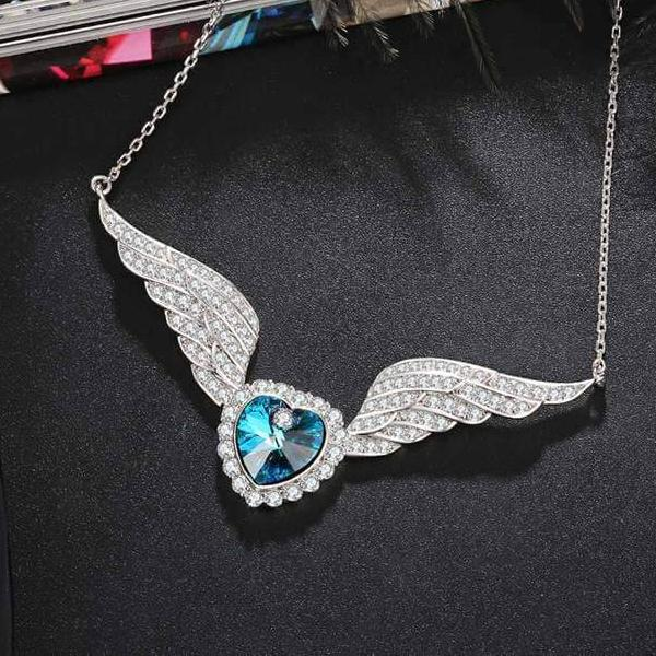 Swarovski Crystal Necklace - Wings