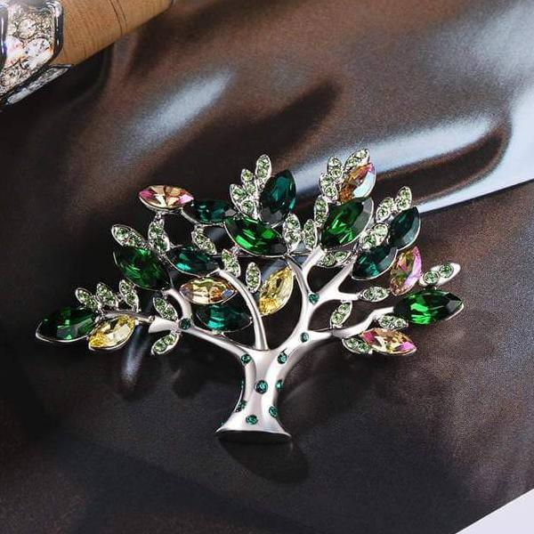 Swarovski Crystal Brooch - Dream Tree