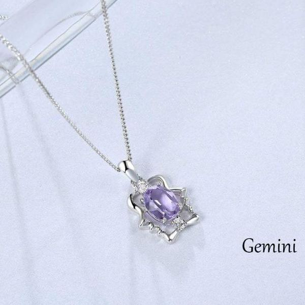 Swarovski Crystal 12 Constellations Pendant Necklace