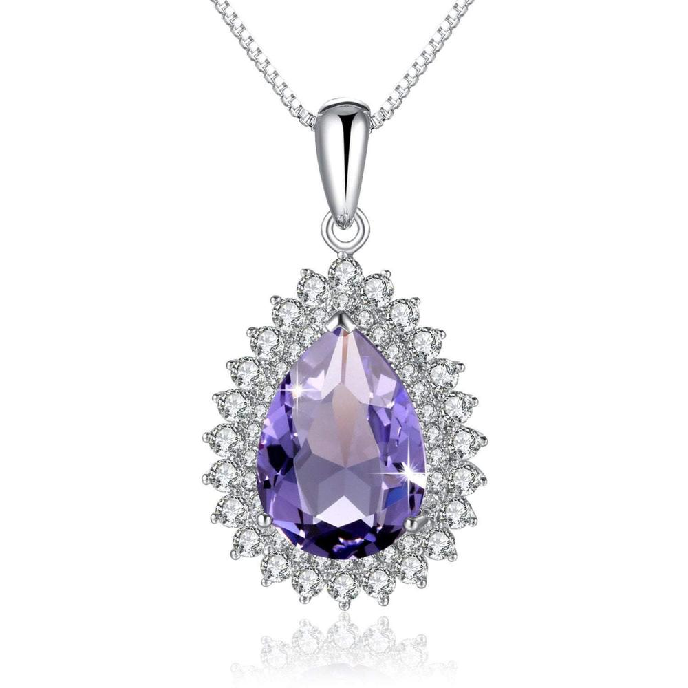 Teardrop Pendant Necklace Violet