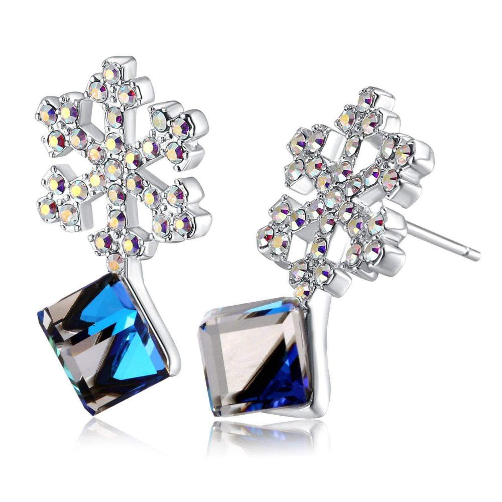 Change Color Snowflake Earrings Colorful