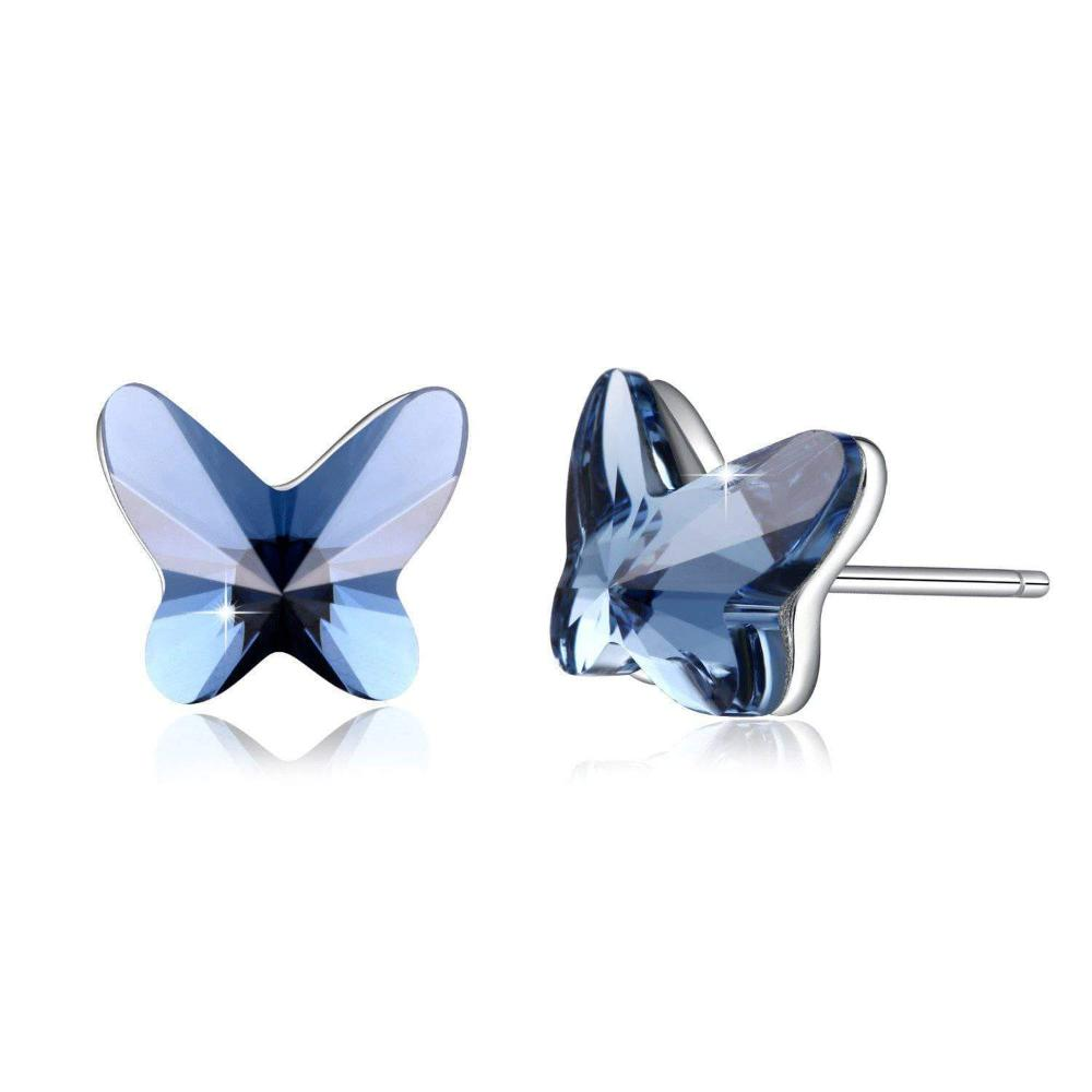Butterfly Stud Earrings Blue