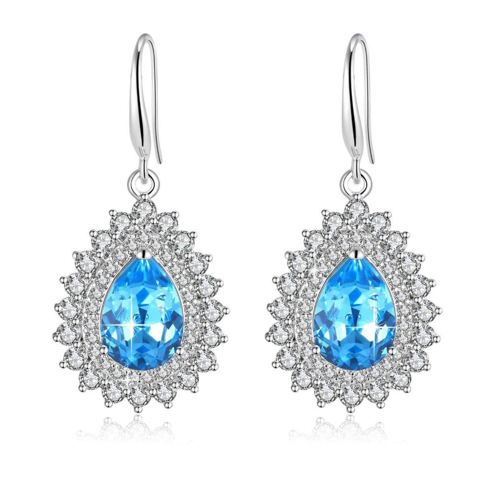 Teardrop Waterdrop Stud Earring Womens Drop Dangle Earing