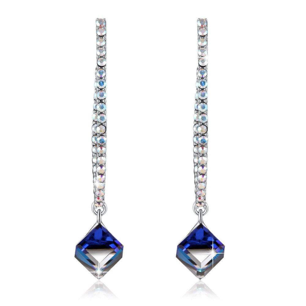Angel Eyes Drop Earrings Blue
