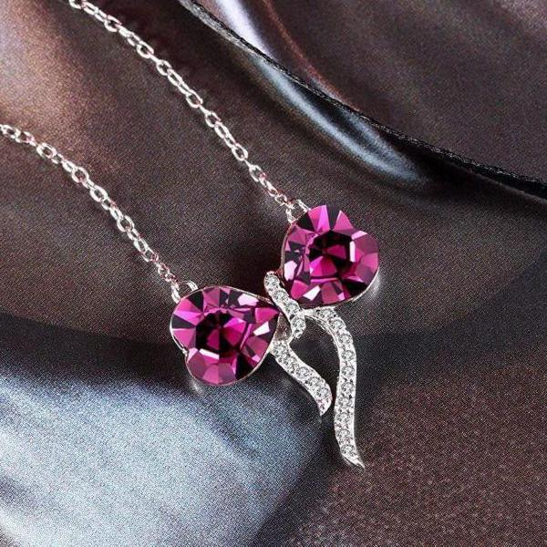 Love Bowknot Pendant Necklace Gift