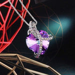 Noble Pendant Necklace Purple