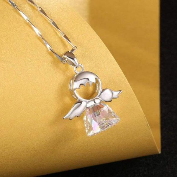 Sweet Angel Sterling Silver Necklace Gift