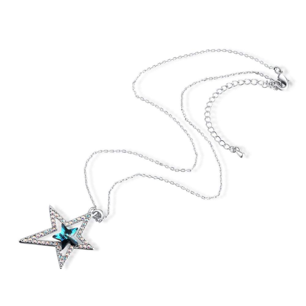 Lucky Star Pendant Necklace Blue
